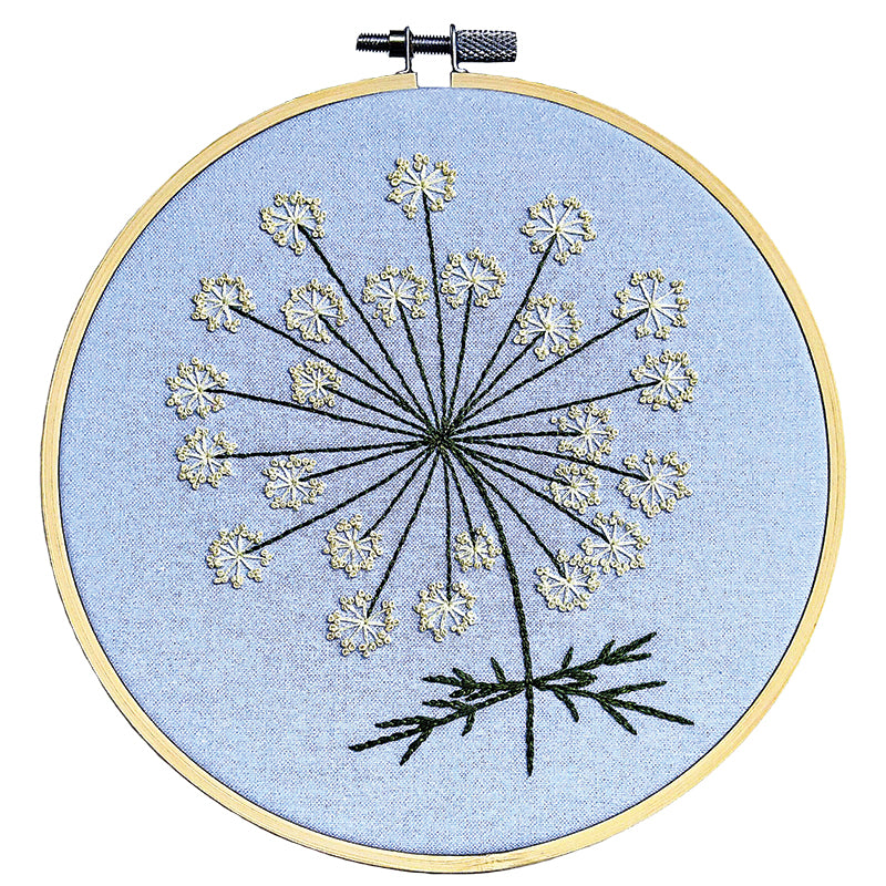 MODA FABRICS -  QUEENANNE'S LACE-- EMBROIDERY KIT