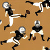 FABRIC FINDERS FABRICS - BLACK AND BRONZE FOOTBALL PLAYER FABRIC