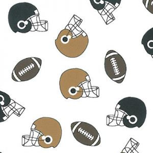 Fabric Finders Fabrics - Helmet Football Black And Bronze