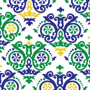 FABRIC FINDERS FABRICS - MARDI GRAS SCROLL FABRIC