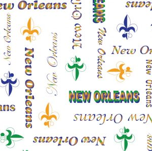 FABRIC FINDERS FABRICS -NEW ORLEANS WORD PRINT FABRIC
