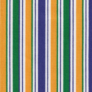 FABRIC FINDERS FABRICS - PURPLE, KELLY AND GOLD STRIPE