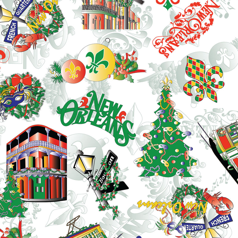 FABRIC FINDERS FABRICS - NEW ORLEANS CHRISTMAS FABRIC