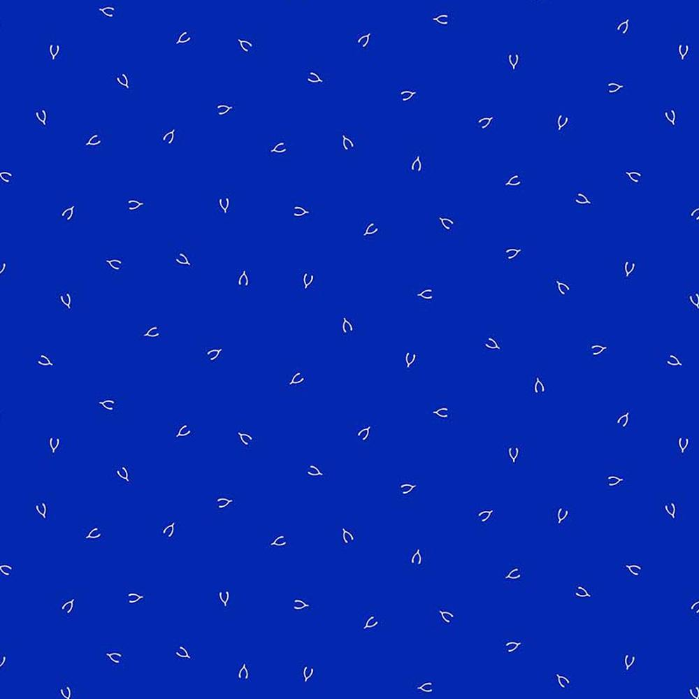FIGO FABRICS - LUCKY CHARMS - WISHBONE IN NAVY