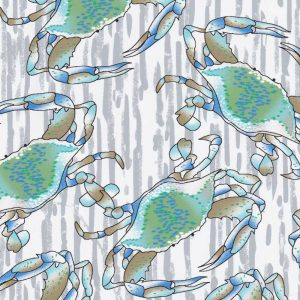 Fabric Finders Fabric - Blue Crab Fabric