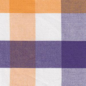 Fabric Finders Fabric - Purple, Gold, and White Checks