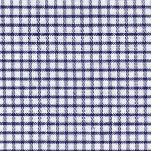 Fabric Finders Fabrics -  Windowpane Check Fabric – Seersucker – Navy