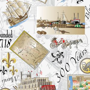 FABRIC FINDERS FABRICS - NEW ORLEANS 300 ANNIVERSARY