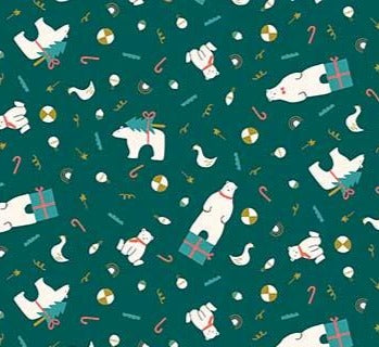 Figo Fabrics - Polar Magic- - Bear Presents Metallic