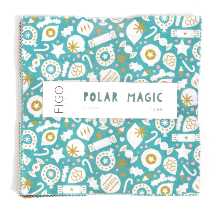 Figo Fabrics - Polar Magic-  10 X 10- LAYER CAKE