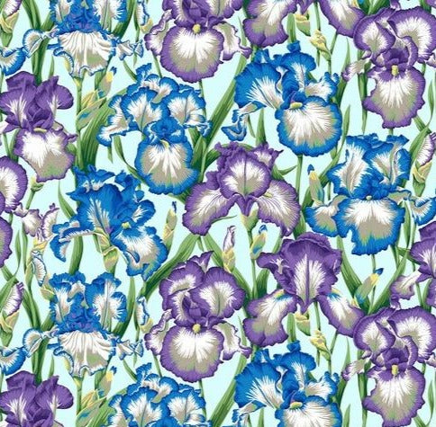 Free Spirit Fabrics - Phillip Jacobs for Kaffe Fassette -  Bearded Iris - Cool