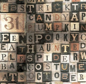 Free Spirit Fabrics -  Tim Holtz Eclectic Elements - Halloween - Multi