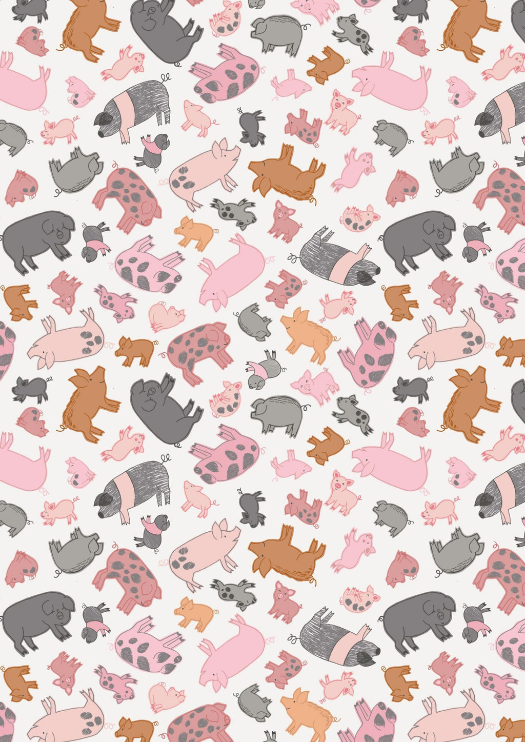 Lewis & Irene Fabrics -  Piggy Tales -  Piggies On Cream