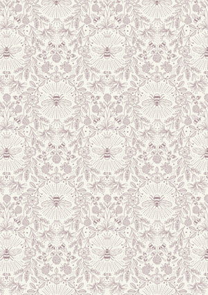 Lewis & Irene Fabrics -  Queen Bee -  Queen Bee On Cream