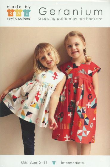 MADE BY RAE - GERANIUM DRESS PRINTED PATTERN 0-5T