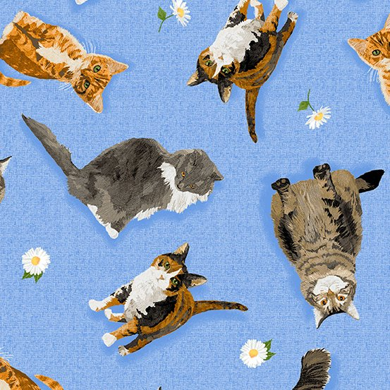 ANDOVER FABRICS – MEOW MEADOW BY TWO CAN ART