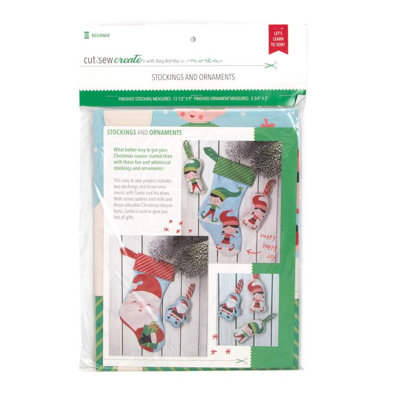 MODA FABRICS -  CHRISTMAS STOCKING ORNAMENTS