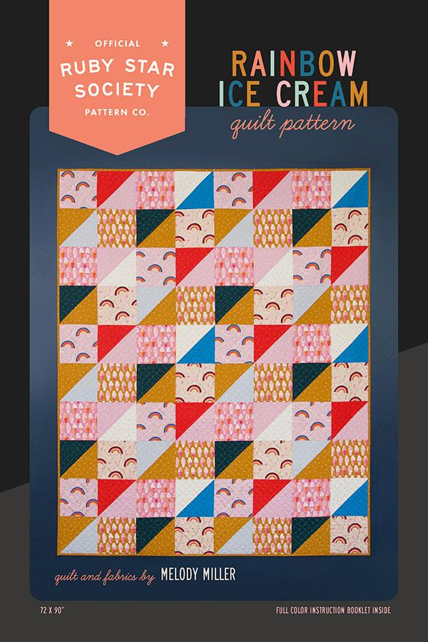 MODA FABRICS -  RUBY STAR - RAINBOW ICE CREAM QUILT