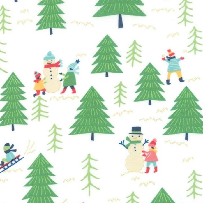MODA FABRICS - SNOW DAY - SNOW FUN - SNOWFLAKE