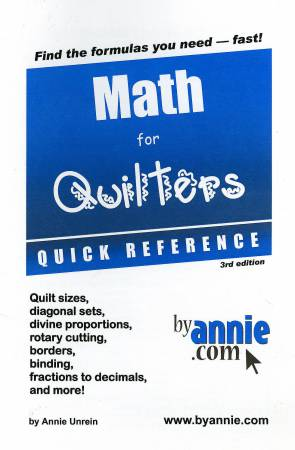 Math for Quilters Quick Reference Booklet