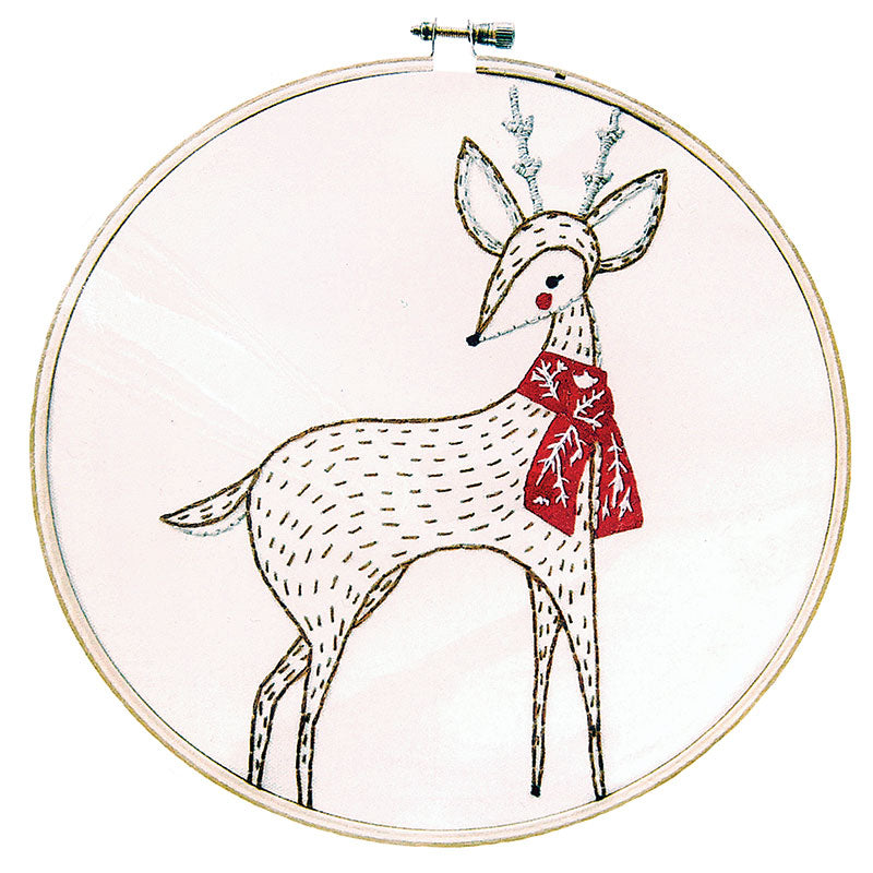 Moda Fabrics  - Merriment Embroidery Sampl Deer