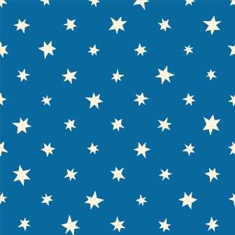 Michael Miller Fabrics -Space Oddity - I Wish .... (Glow in the Dark) - Blue