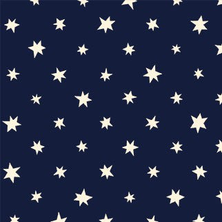 Michael Miller Fabrics -Space Oddity - I Wish .... (Glow in the Dark) - Navy