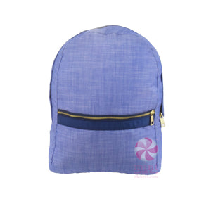 Mint Sweet Little Bags - Medium Backpack -  Navy Chambray