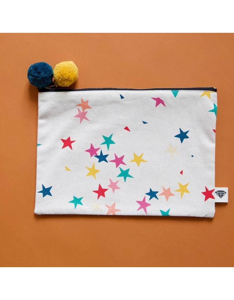 Moda Fabric - Starfetti Pouch - Ruby Star Society