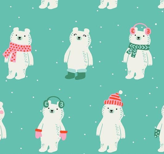 Moda Fabrics -  Ruby Star Society -   Flurry-  Snow Bears