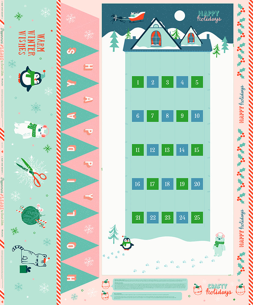 Moda Fabrics  - Ruby Star Society - Peppermint Please Pack Panel