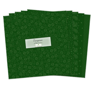 QT Fabrics  - Evergreen 10 Karat Mini Gems - 10""