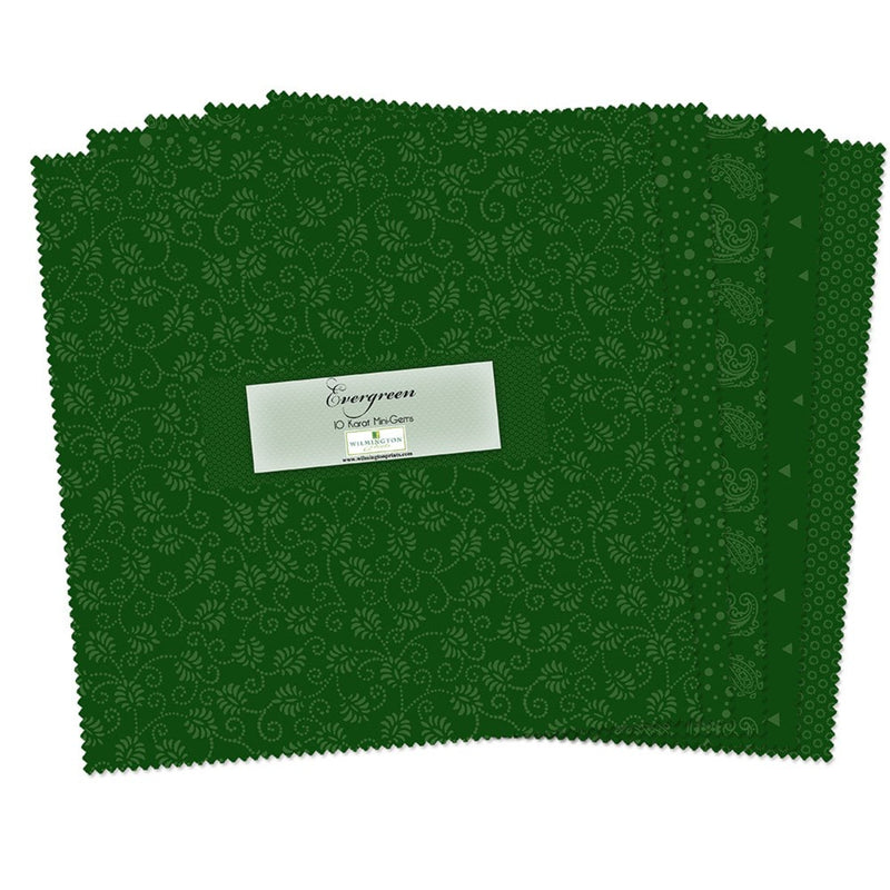 QT Fabrics  - Evergreen 10 Karat Mini Gems - 10