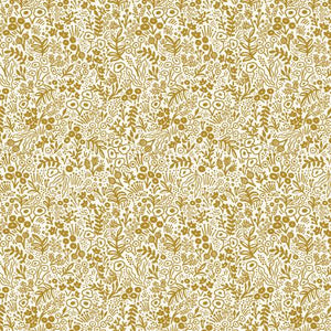 Cotton+Steel Fabrics - Rifel Paper Co. Basics - Tapestry Lace - Gold Metallic