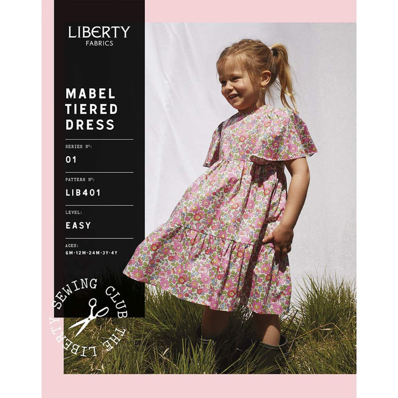 Riley Blake Fabric - Mabel Tiered Dress