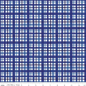 Riley Blake Fabrics  - At The Lake Plaid Blue