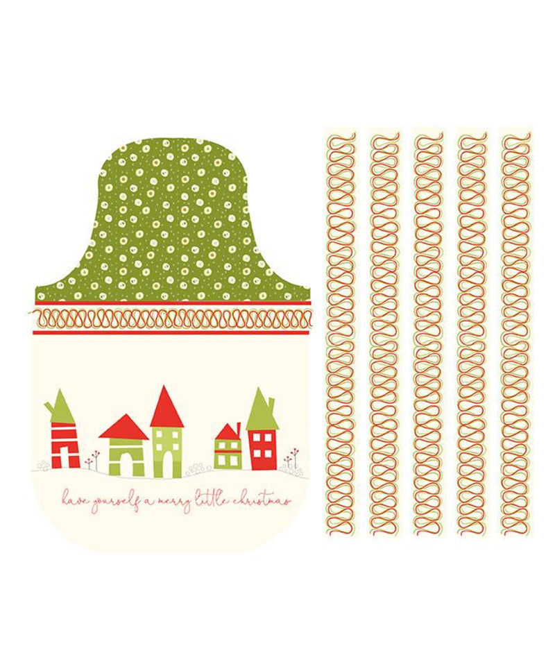 Riley Blake Fabrics - Merry Little Christmas - Apron Panel Cream