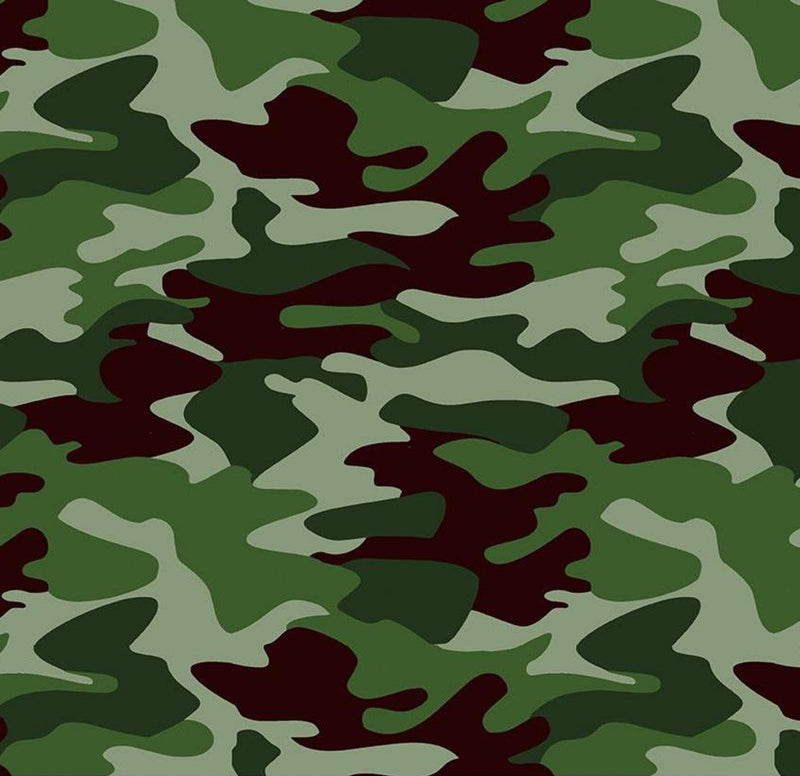 Riley Blake Fabrics  - Nobody Fights Alone Camo Green