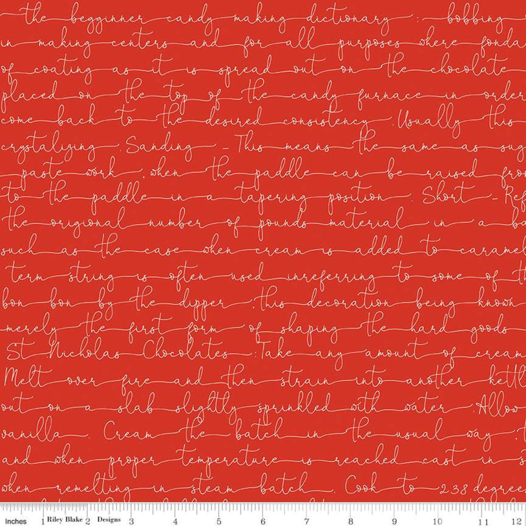 Riley Blake Fabrics - Snow Sweet  - Text Red