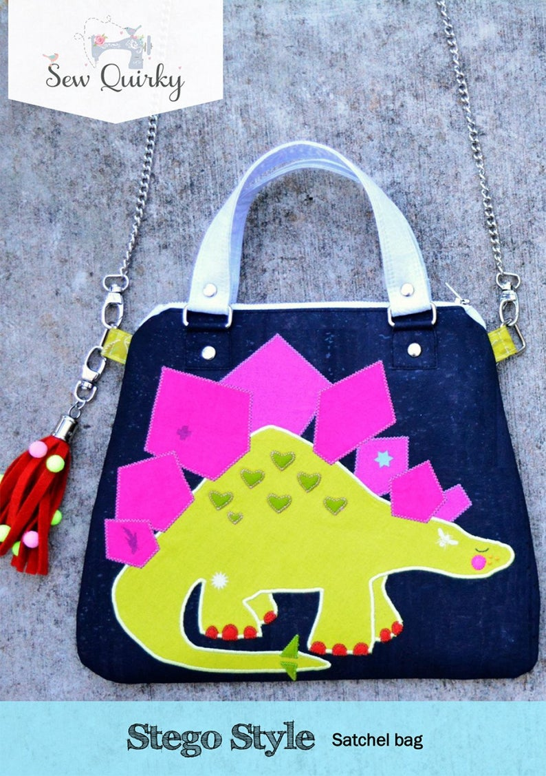 SEW QUIRKY - STEGO STYLE - SATCHEL BAG