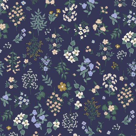 Cotton+Steel Fabrics - Rifel Paper Co. - Strawberry Fields - Hawthorne - Navy