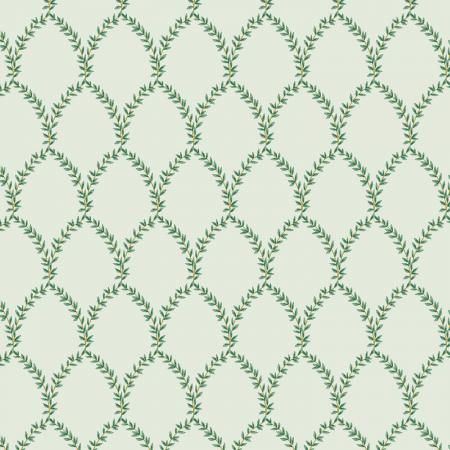 Cotton+Steel Fabrics - Rifel Paper Co. - Strawberry Fields - Laurel - Mint