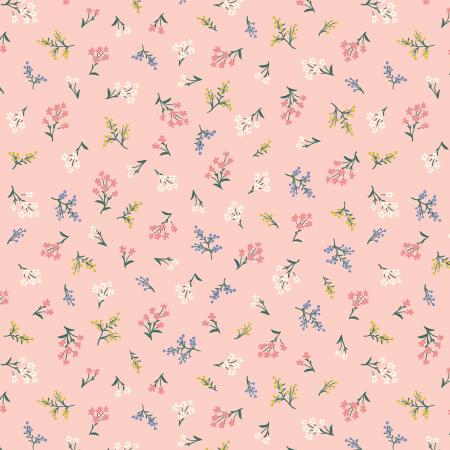 Cotton+Steel Fabrics - Rifel Paper Co. - Strawberry Fields - Petites Fleurs - Blush