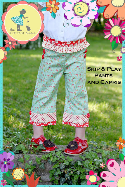 THE COTTAGE MAMA - SKIP AND PLAY PANTS & CAPRIS