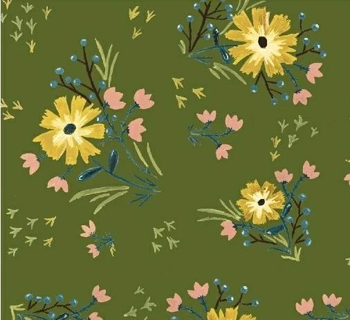 WINDHAM FABRICS  - BUNGALOW - LARGE FLORAL