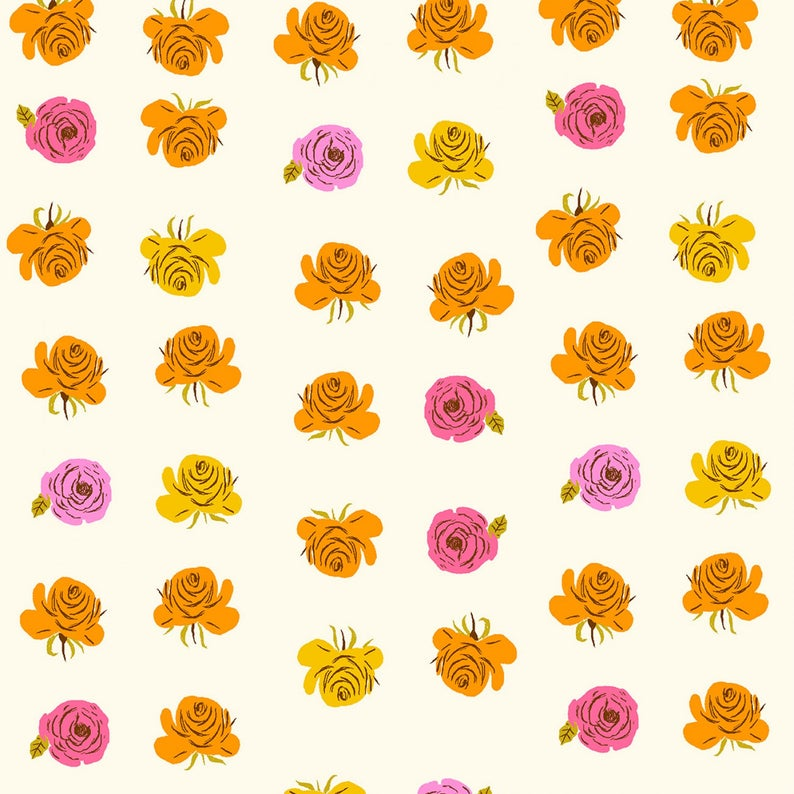 Windham Fabrics  - Farfar Ii - Heather Ross - Roses In Pink