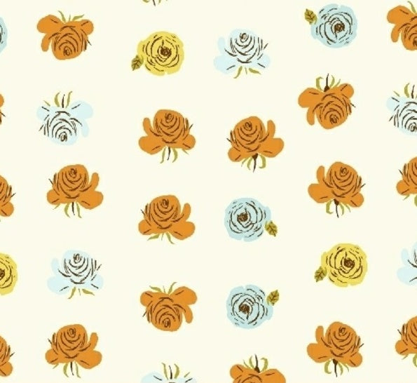 Windham Fabrics  - Far Far Ii - Heather Ross - Roses In Aqua