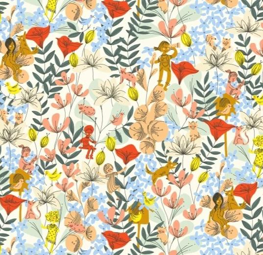 WINDHAM FABRICS  - PLAYGROUND - IN THE FLOWERS