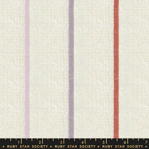 Moda Fabrics  - Ruby Star Society -  Warp Weft Heirloom Sunset - Multi Narrow Stripes