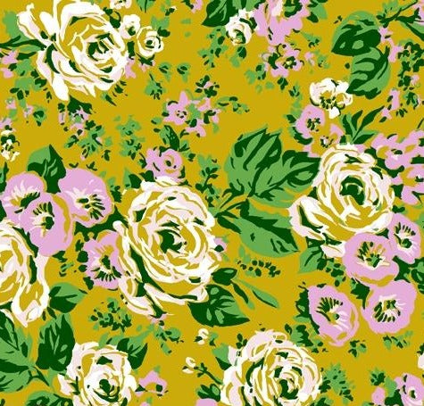 Windham Fabrics  - Bright Big Rose - Posy